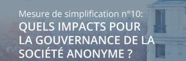 Loi Pacte – Quels impacts pour la gouvernance de la SA ?